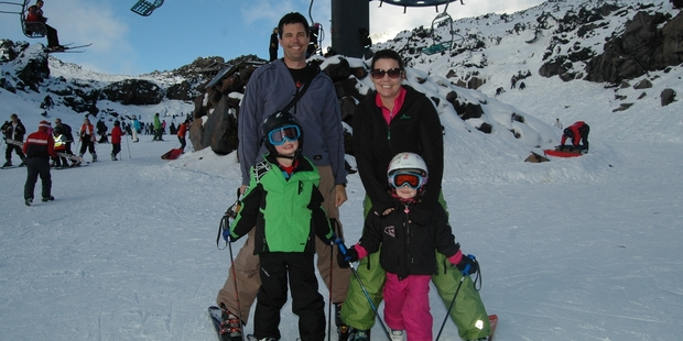Cameron and Suzie Neilson are back from Australia for a wintry New Zealand holiday with James, 6, and Georgia, 4.