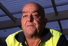 Napier truck driver Andrew Northe says falling log prices could cost Hawke's Bay hundreds of jobs. Photo/Paul Taylor