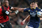 The Crusaders will attempt to get a handle on Malakai Fekitoa when they meet the Highlanders tonight. Photo / Getty