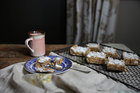 Coconut cream fudge slice with prunes and lemon zest. Photo / Eleanor Ozich
