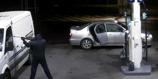 The van was attacked at the Z Service Station on Roscommon Road in Manurewa on the morning of June 27.