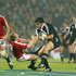 Weepu pushes off Matt Dawson during the historic 19-13 NZ Maori victory over the British Lions at Waikato Stadium in 2005. Photo / Amos Chapple.