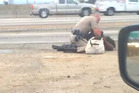 Footage captured by a passer-by shows a California Highway Patrol officer assaulting a woman.
