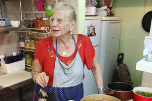 Julie Ozon's kitchen at her tiny Carmel market restaurant. Picture / Supplied