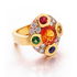 James McCarty 'Rockstar' cocktail ring handmade 18ct yellow & rose gold set with 3ct spessatite garnet, 1.4ct round brilliant-cut diamond, red pinel, green garnet, blue & yellow sapphires, $13,500.