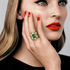 'Cher Dior' Fascinante emerald ring and bracelet (POA).