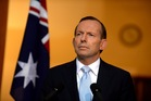 Prime Minister Tony Abbott during a press conference on the Ukraine MH17 crash. Photo / AAP