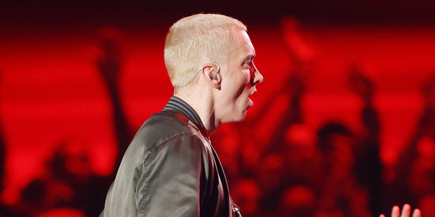 Eminem fans have complained about sound quality at his Wembley Stadium show. Photo/Getty.