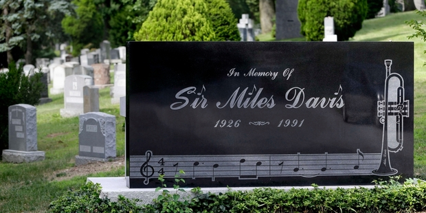 The grave of Miles Davis is proving a powerful draw. Photo / AP