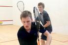 Tauranga's Ben Grindrod at the Tauranga Open Squash tournament.Photo/Andrew Warner