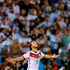 Germany's Mario Goetze celebrates after scoring the opening goal during the World Cup final soccer match between Germany and Argentina at the Maracana Stadium in Rio de Janeiro, Brazil. Photo / AP