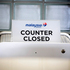 A closed desk of Malaysian airlines is seen at Schiphol airport in Amsterdam. Photo / AP