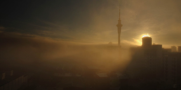 The view of what's visible in Auckland this morning. Photo / Amit Kokje