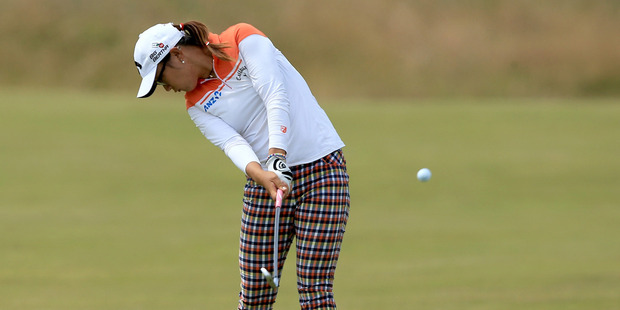 Lydia Ko in action during the third round of the women's British Open. Photo / Getty Images