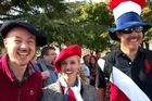 Locals and visitors to the valley of Franschhoek, in the Western Cape, South Africa, on Saturday celebrated centuries-old French Huguenot heritage at its annual Bastille Festival.