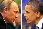 Russia's President Vladimir Putin and U.S President Barack Obama. Photo / AP; Olivier Douliery