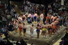 Ritual is behind almost every move in a sumo tournament. Photo / Brett Atkinson