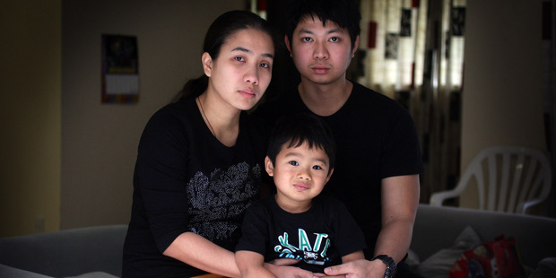 Mary and Titus Navacilla, pictured with their son Gabriel, blame themselves for the death of their baby daughter Lexie. Photo / Doug Sherring