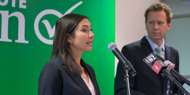 Auckland University senior lecturer and nanotechnologist Dr Michelle Dickinson said the R&D policy of Greens  co-leader Dr Russel Norman was key to the country's future. Photo / Mark Mitchell