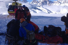 Special forces soldiers could not revive their mate, who fell down a crevasse. Picture / Westpac Rescue Helicopter