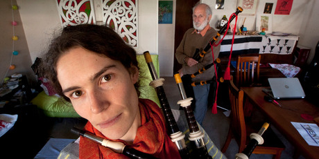 Morgane Lebrun is appealing for her missing bagpipe parts to be returned.