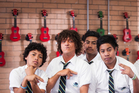 Jonah from Tonga with Chris Lilley as Jonah second from left (supplied).