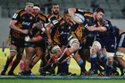 Liam Squire of the Chiefs charges forward during the round 19 Super Rugby match. Photo / Getty Images