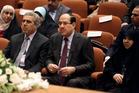 Iraqi Prime Minister Nouri al-Maliki's, centre, non-inclusive approach first provoked the Sunni rebellion. Photo / AP