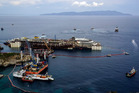 Operations to refloat and tow away the luxury cruise ship Costa Concordia get underway on the tiny Tuscan island of Giglio, Italy. Photo / AP