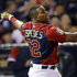 American League's Yoenis Cespedes, of the Oakland Athletics, hits during the MLB All-Star baseball Home Run Derby. Photo / AP