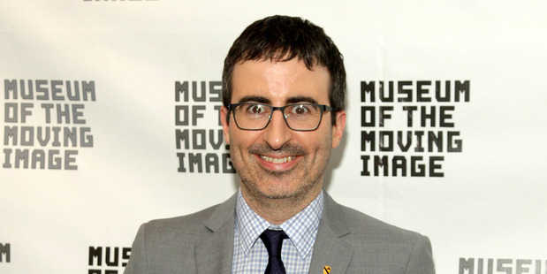 John Oliver: dishing it out to deserving targets.