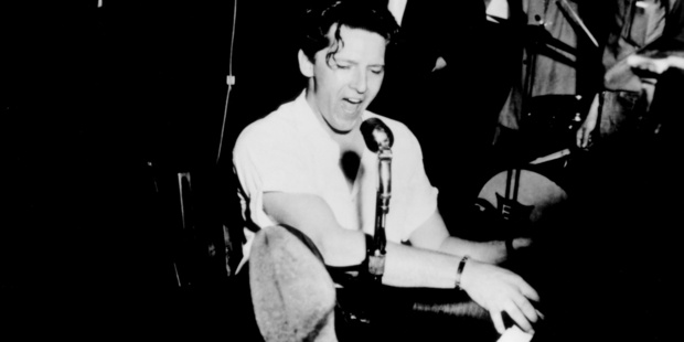 Jerry Lee Lewis played the piano with fierce energy. Photo / Supplied
