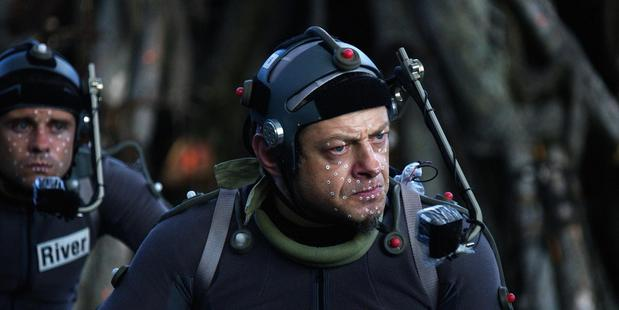 Andy Serkis in his role as Caesar on the shoot of Dawn of the Planet of the Apes (Weta Digital)