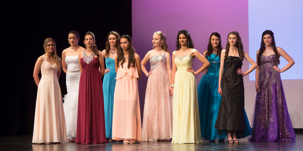 Auckland finalists in the Miss Junior New Zealand competition at Avondale College. Photo / Chris Loufte