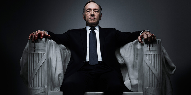 Kevin Spacey in House of Cards - one of the original content productions made by US company Netflix for its subscribers.