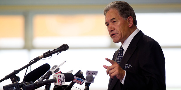 New Zealand First Leader Winston Peters. Photo / New Zealand Herald Photograph / Richard Robinson