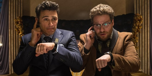 James Franco and Seth Rogan in 'The Interview' a comedy action film about a plot to assassinate Kim Jong Un of North Korea.