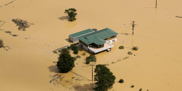 Flooded farms in Hikurangi back in 2007