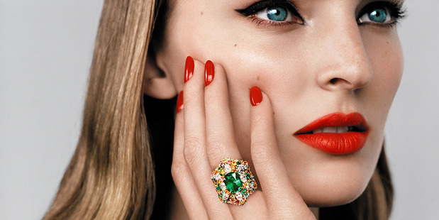 'Cher Dior' Fascinante emerald ring.