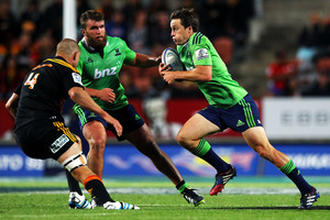 Ben Smith returns for the Highlanders to face the Sharks on Sunday. Photo / Getty Images