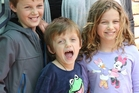 Child victims of the downed Malaysian plane (from left) -  Mo Maslin, 12, brother Otis, 8, and sister Evie, 10,  were killed on the flight  with their grandfather Nick Norris.