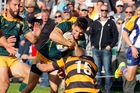 Mount Maunganui fullback Andy Devoy takes on the Te Puke defence in round 16.Photo/Andrew Warner