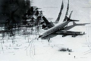 Remarkably all on board this Korean Air flight survived after it was shot down by Soviet Sukhoi fighters.