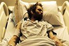 One of the photos Deryck Whibley shared of his hospital stay while recovering from alcoholism.
