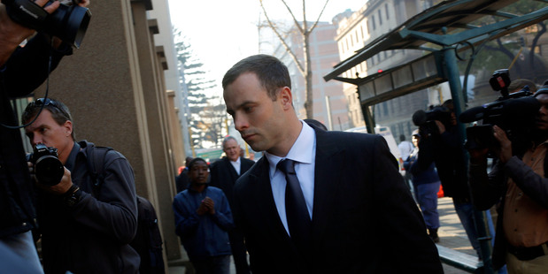 Oscar Pistorius was questioned about his murder trial at a nightclub, which ended in an argument. Photo / AP