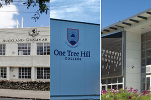Auckland Grammar, One Tree Hill College and Epsom Girls' Grammar.