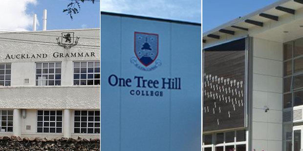 Auckland Grammar, One Tree Hill College and Epsom Girls' Grammar.