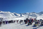 The Cardrona Alpine Resort closed its gates yesterday morning after reaching capacity. Photo supplied.