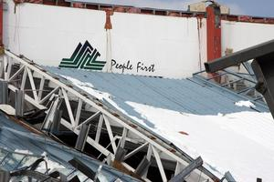 Heavy snow caused Stadium Southland's roof to collapse during a weekend storm in 2010. File photo / APN