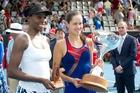 Venus Williams and Ana Ivanovic produced an epic ASB Classic final. Photo / Richard Robinson
